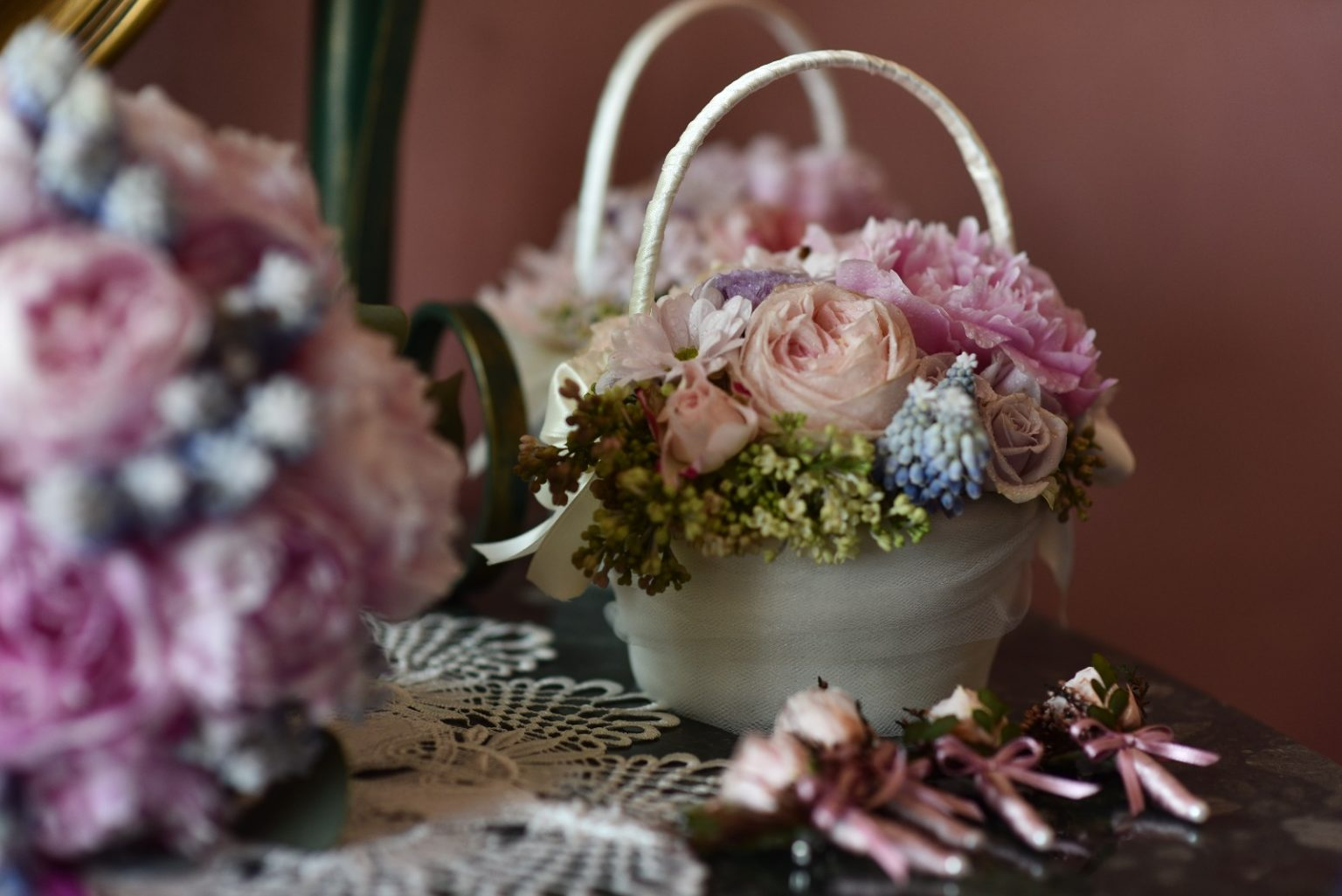 tulle fiori e decori